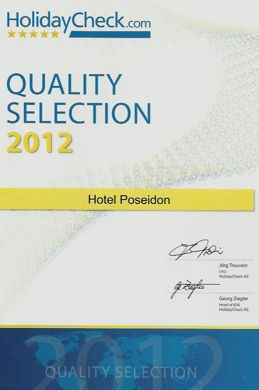 HolidayCheck Quality Selection 2012 Award - Hotel Poseidon Amoudara